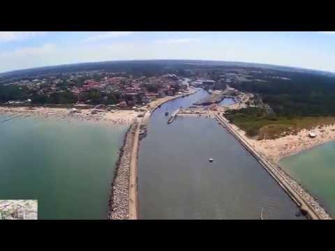 Ustka widziana okiem drona-Port,Plaża,Promenada i okolice