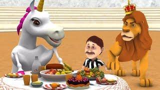 Лев и единорог | детские стишки | мультфильмы для детей | Little Treehouse | Lion and the Unicorn