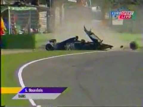 2001 formula 3000 sebastien bourdais crash at imola youtube. Black Bedroom Furniture Sets. Home Design Ideas