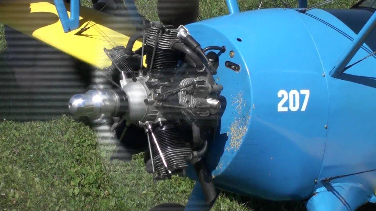 Moki 215 - 5 cylinder radial - YouTube