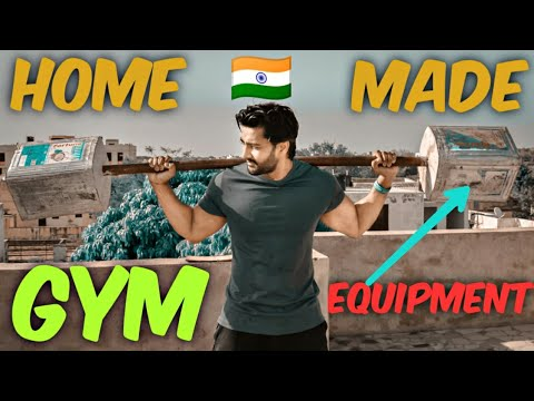 How To Make Gym Equipments At Home In Lockdown| Heavy Barbell Weight💪