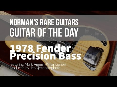 Norman's Rare Guitars - Guitar of the Day: 1978 Fender Precision Bass