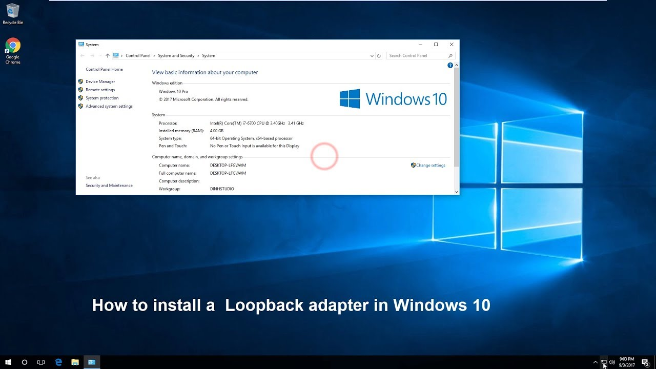 How to install a Loopback adapter in Windows 10 - YouTube