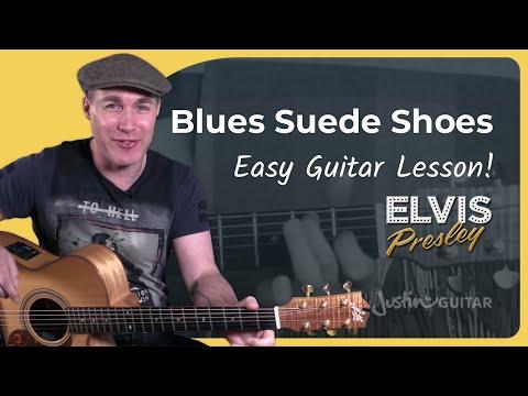 Blue Suede Shoes - Elvis Presley - Guitar Lesson Tutorial (BS-522)