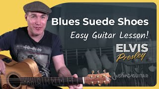 How to play Blue Suede Shoes - Elvis Presley - Carl Perkins Guitar Lesson Tutorial