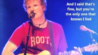 Ed Sheeran - U.n.i Live With Lyrics