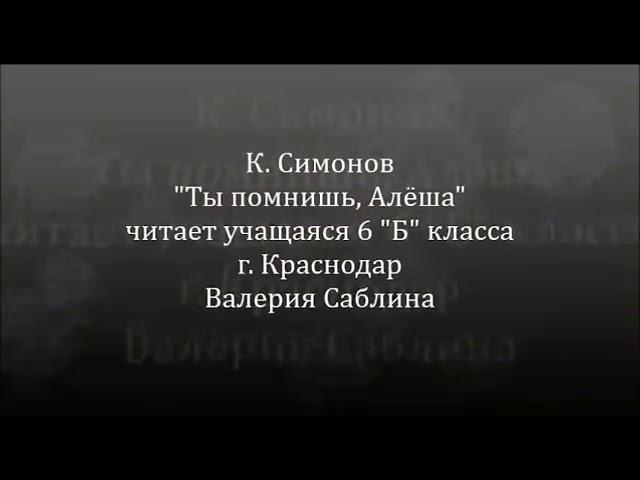Изображение предпросмотра прочтения – ВалерияСаблина читает произведение «Ты помнишь,Алёша, дороги Смоленщины...» К.М.Симонова