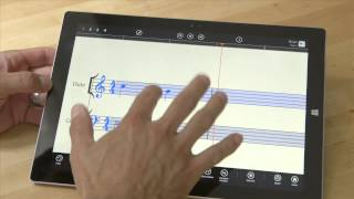Using StaffPad on MS Surface, Workflow for Writing Music Notation