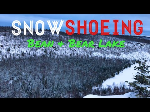 Snowshoeing the best of the Superior Hiking Trail (Bean & Bear Lake)