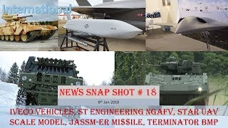 NEWS SNAP SHOT # 18 (8th Jan): Iveco Vehicles, ST Engineering NGAFV, Star UAV, JASSM-ER, Terminator