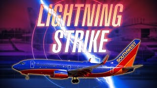 Southwest 737 Struck by Lightning Departing Manchester [with ATC audio]