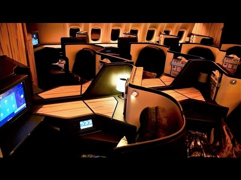 China Airlines Business Class 777 Taipei to New York JFK CI1