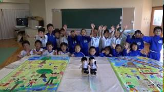 アートマイルの絵完成(20161118)鳴鹿小学校