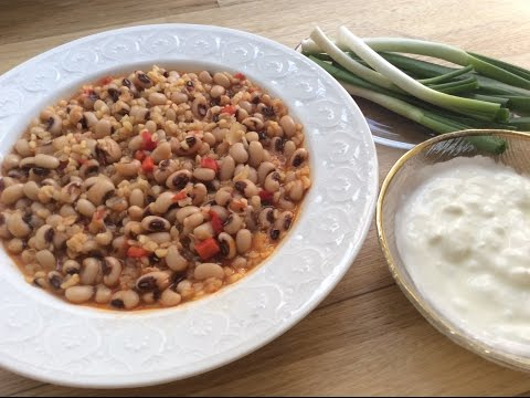 BLACK EYED PEAS WITH BULGUR - Aegean Cuisine Of Turkey - Mother-in-law Recipes