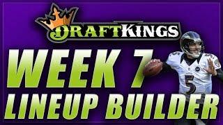 DRAFTKINGS NFL WEEK 7 LINEUP Q&A