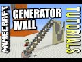 Minecraft PS4 - GENERATOR WALL - How To - Tutorial ( PS3 / XBOX )
