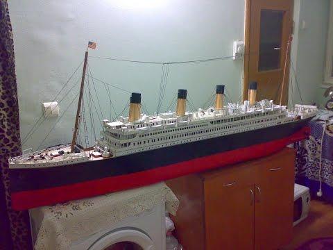Titanic Model Made From Cardboard