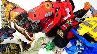 Huge dinosaurs appeared in Tayo town! - Dinotrux Mega Lux transform! - DuDuPopTOY
