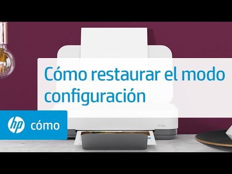 Cómo restaurar el modo configuración | Impresoras HP Tango y Tango X | HP