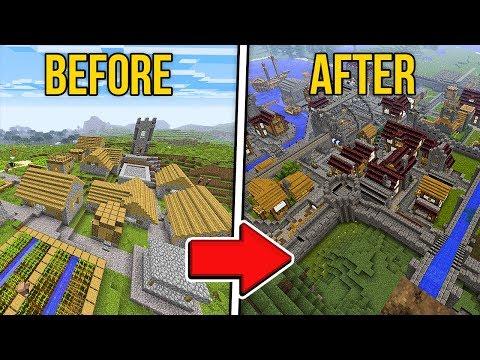 Transforming A Minecraft VILLAGE W/Lizzie!