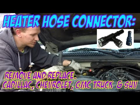 Replace Heater Hose Connector For Cadillac, Chevrolet, GMC Truck  & SUV