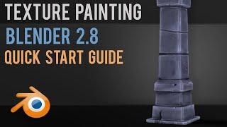 Texture Painting | Blender 2.8 | Quick Start | 3 MIN