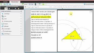 Gammel version! 6. Mål areal og vinkel i en trekant i TI-Nspire
