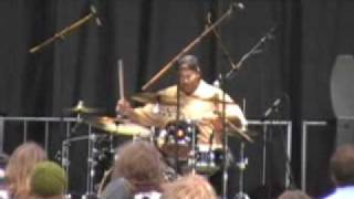 New Orleans All Stars - Raymond Weber drum solo - @ Hoxeyville Music Festival 2009