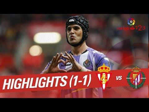 Resumen de Sporting de Gijón vs Real Valladolid (1-1)
