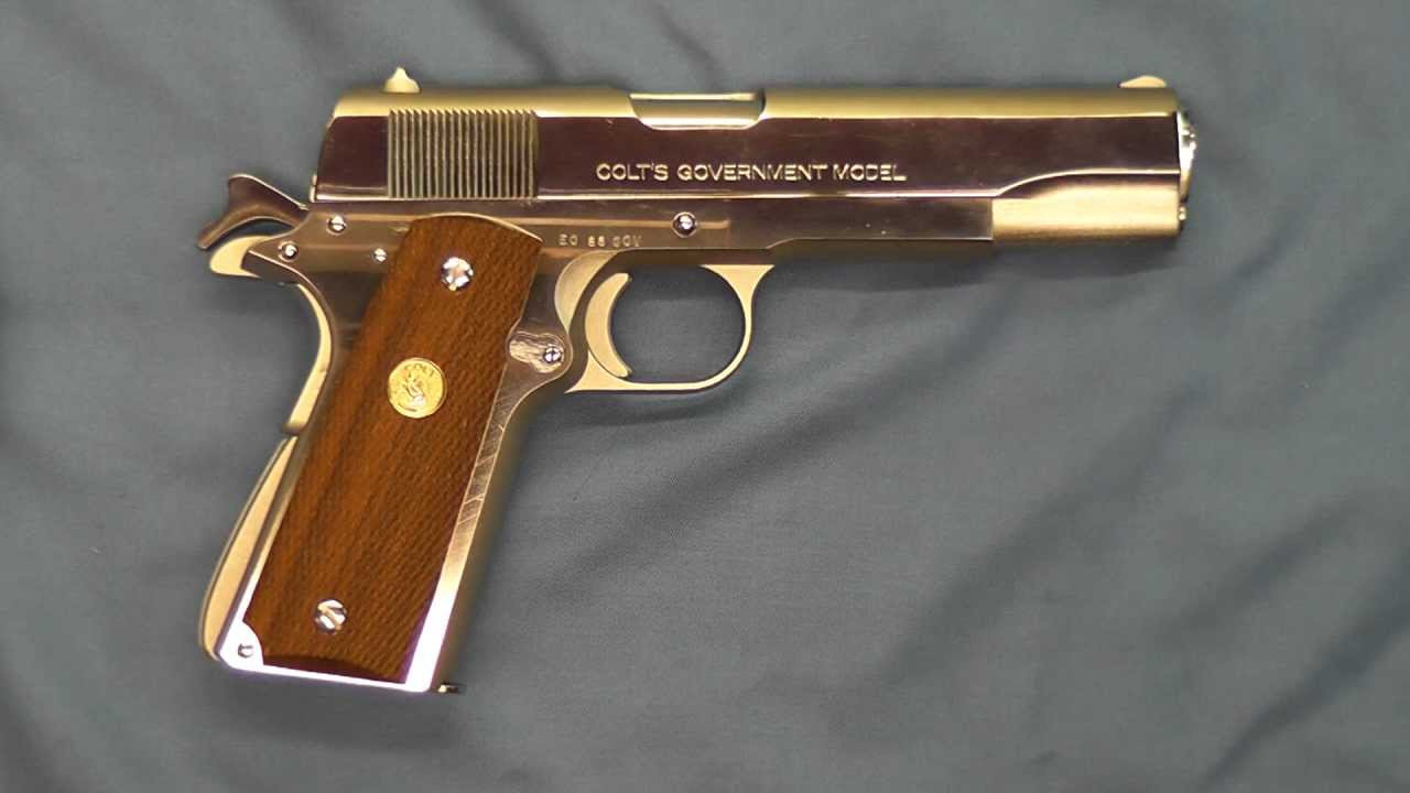Experimental Nickel Colt Government Model Mark IV Series 70 1911A1