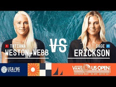 Tatiana WestonWebb vs. Sage Erickson  FINAL  Vans US Open 2017 W