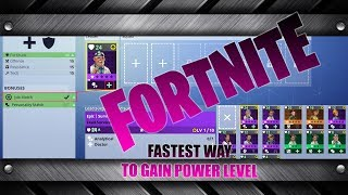 Hidden Secret, Fastest Way to Gain Power level in Fortnite (Survivors)