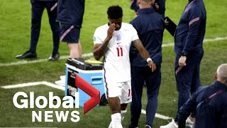 English players targeted by racist attacks after Euro 2021 loss to Italy