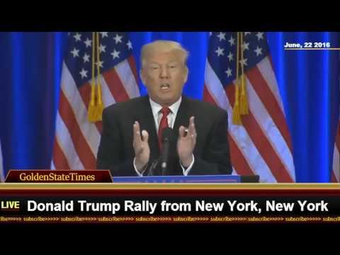 Amazing speech:Donald Trump event From New York City (TRUMPSOHO) {6-22-16}