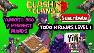 Clash of Clans ||| Ataque todo Brujas Nv. 1 ||| #021