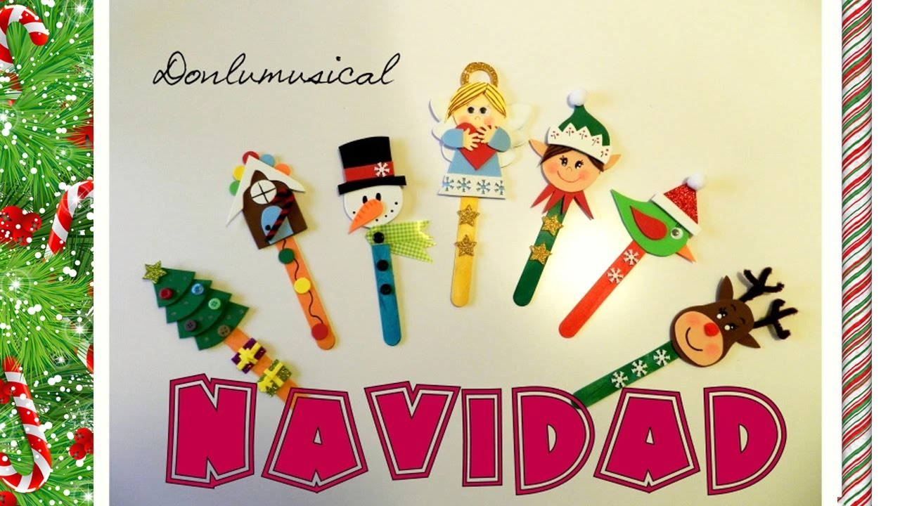 Diy 7 ideas f ciles para navidad donlumusical youtube for Manualidades de navidad para ninos