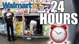 24 HOUR CHALLENGE IN WALMART (ALL NIGHTER IN WALMART)