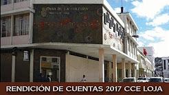 Casa de la Cultura Ecuatoriana Núcleo de Loja, Rendición de Cuentas año 2017