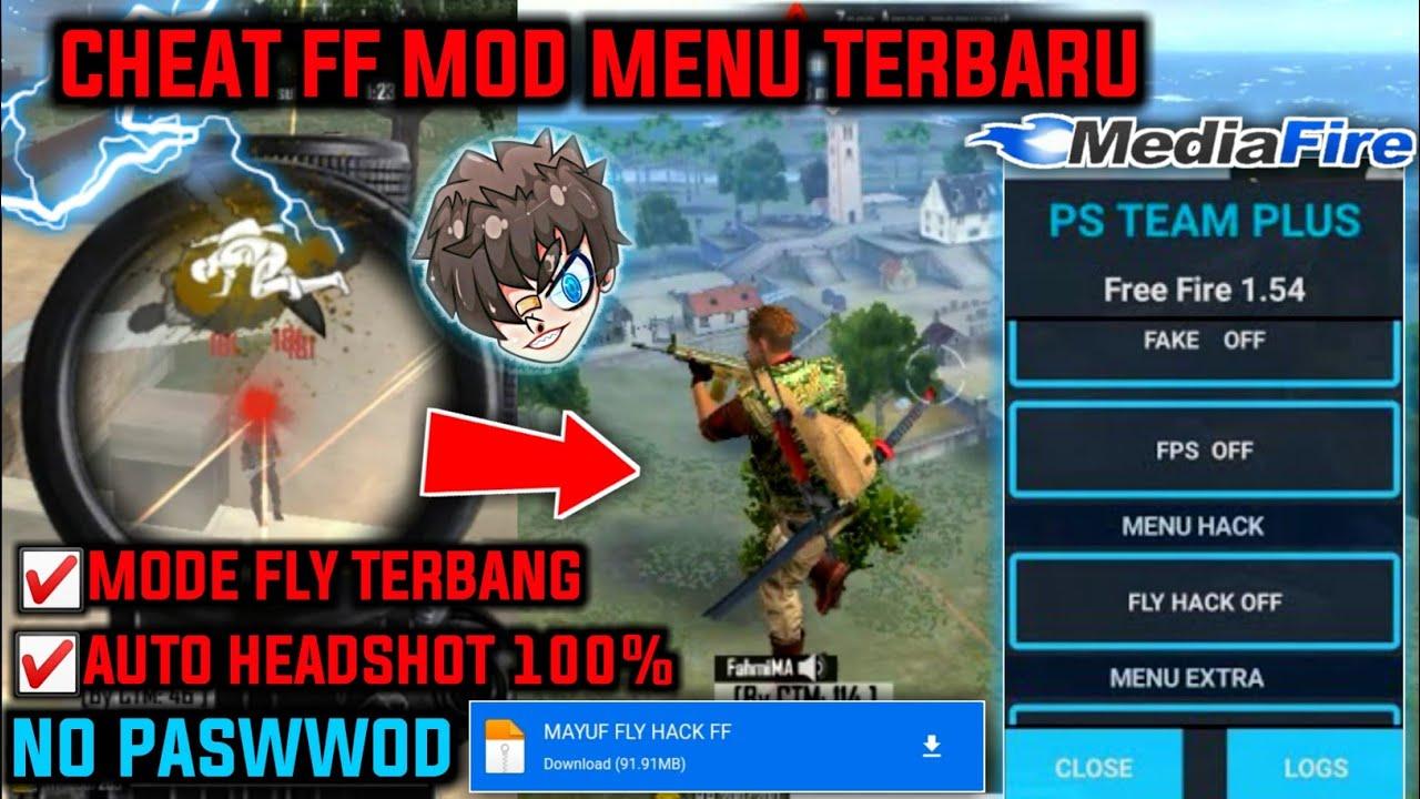 Cheat FF Mod Menu Terbaru || Auto Headshot 100%, Unlimited Diamond & Gold, Bisa Terbang WORK 100% !!