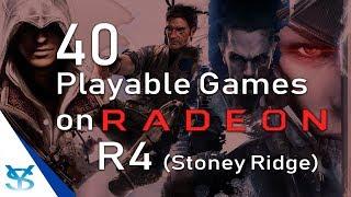 40 Juegos Jugables para AMD Radeon R4 (Stoney Ridge)