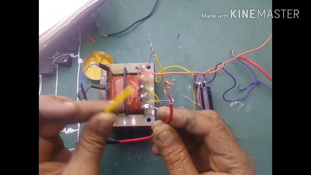 توليد كهربا 220 من كتاوت بطاريه شي لا يصدق