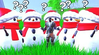 I WAS A SNOWMAN FOR THE WHOLE GAME! (Fortnite FAILS!)