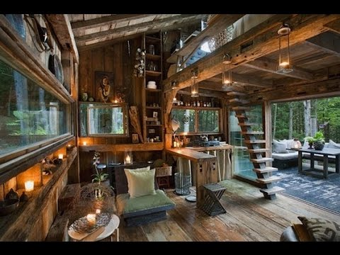 300 Sq Ft Off Grid Cabin In Woods Of New York Youtube