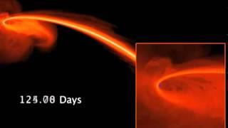 Un vero buco nero interagisce con una stella.
