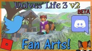 Roblox - Wolves' Life 3 v2 BETA - Fan Arts! #22 - HD