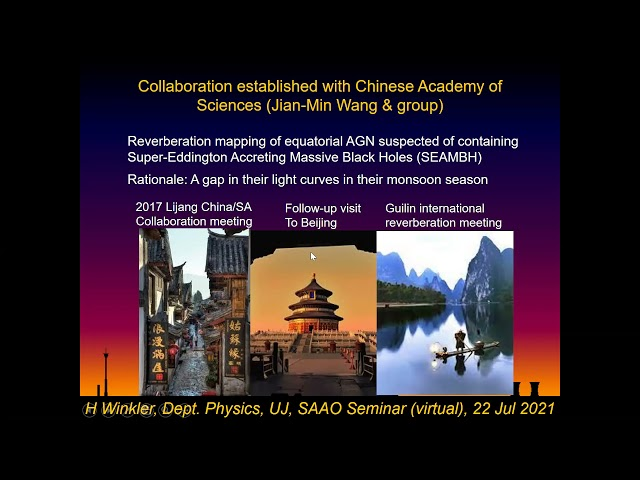 SAAO Colloquium 22July2021 - The physics behind quasi-chaotic lightcurves of Active Galactic Nuclei