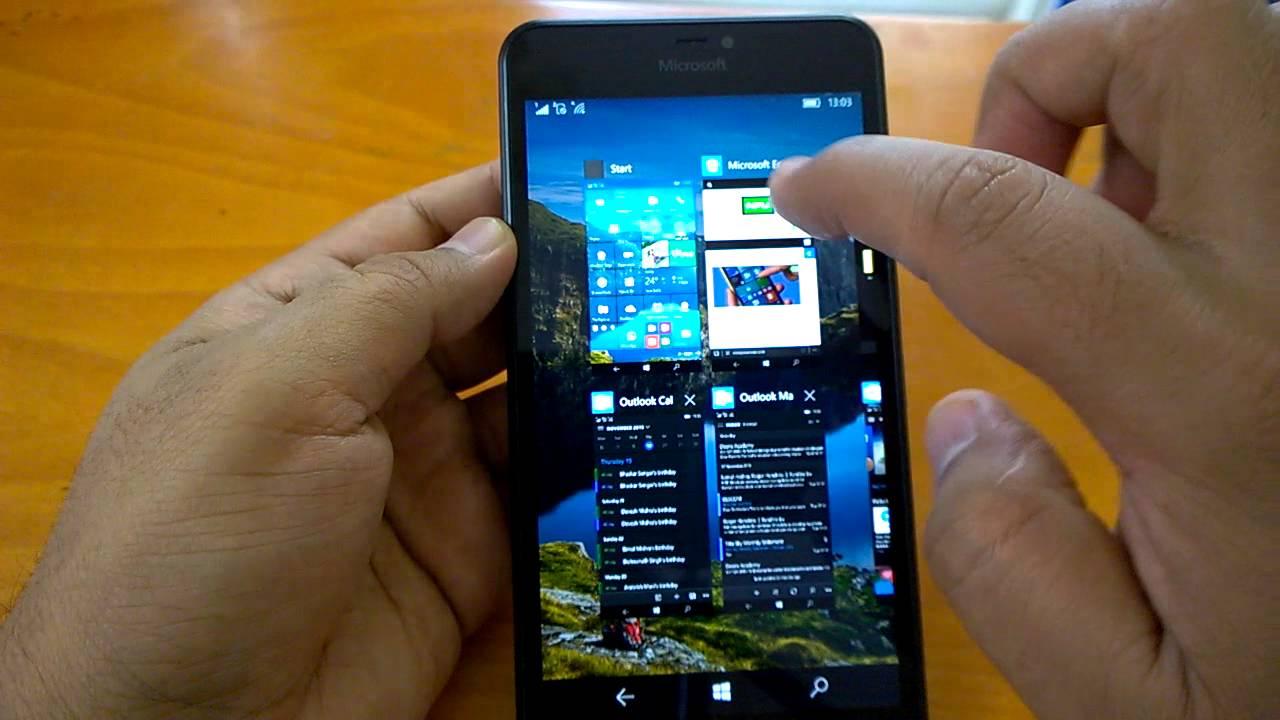 Windows 10 mobile build on lumia 640 xl lumia for Window 640 xl