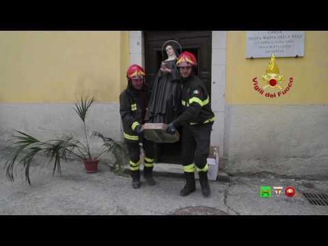 Vigili del Fuoco - Norcia - Recupero oggetti sacri Monastero Clarisse - www.HTO.tv