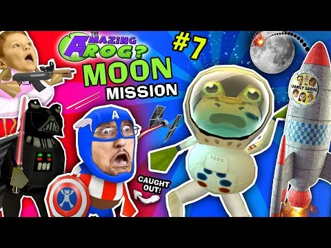 AMAZING FROG ASTRONAUT Space Moon Mission! FGTEEV Caught On Camera! Darth Vader Captain America Pt 7