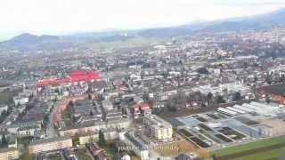 Airport Spotter Flughafen Salzburg nach Palma de Mallorca Son San Juan.Blick Salzburger Land